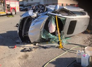 Motor Vehicle Accident with Injuries, Entrapment and Fire